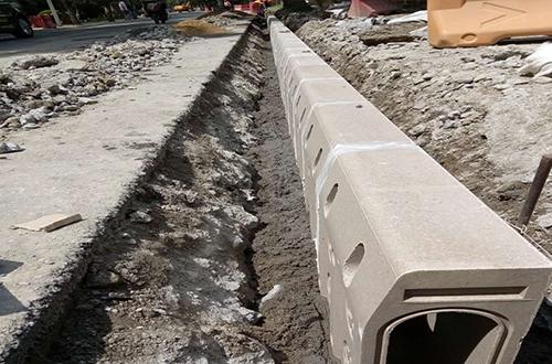 路牙石排水沟案例