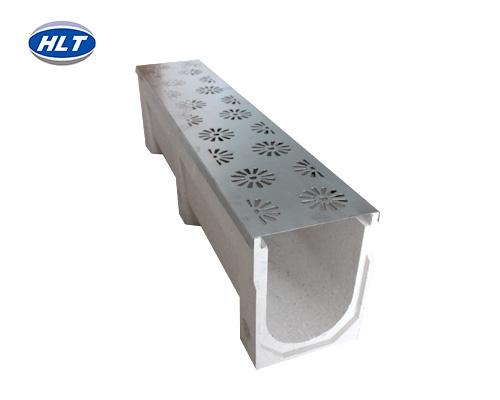 不锈钢盖板树脂混凝土排水沟